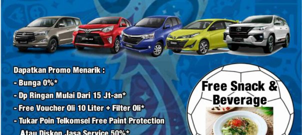 Promo Harga Mobil Toyota Spesial World Cup 2018