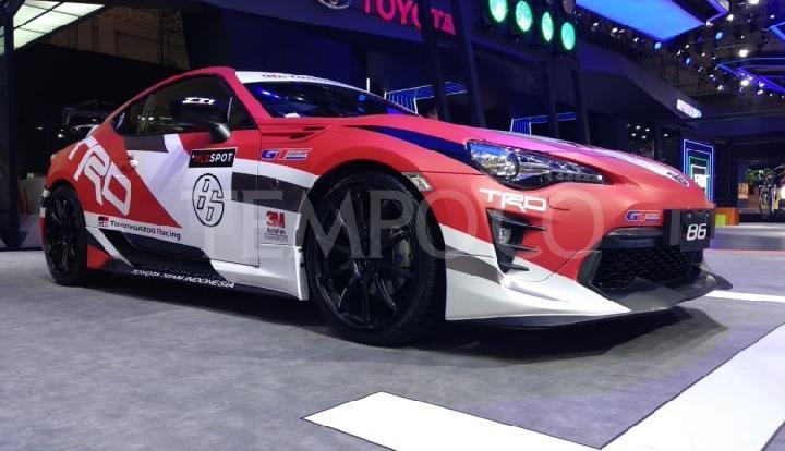 Garangnya Mobil Balap Toyota Team Indonesia di GIIAS 2018