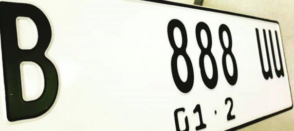 Tahun 2019 Plat Nomor Ganti Jadi Warna Putih